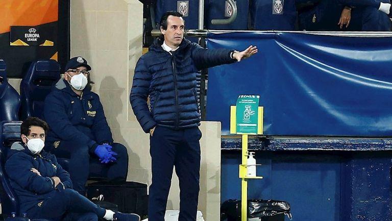 Unai Emery durante un partido con el Villarreal