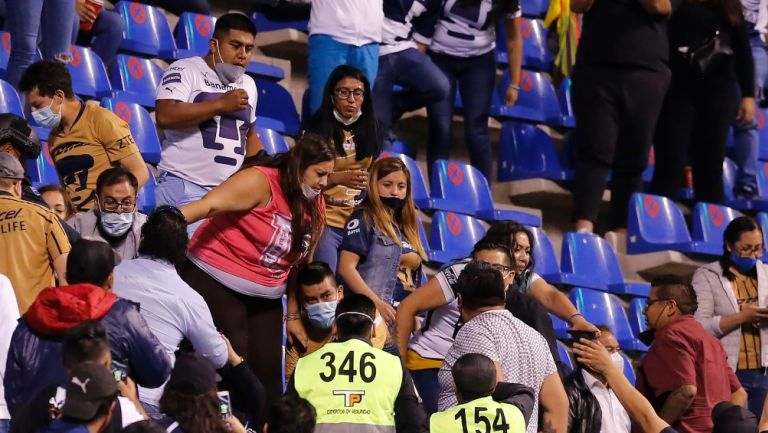 Pelea en el Estadio Cuauhtémoc