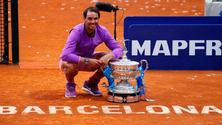 Nadal sonríe tras ganar el Barcelona Open
