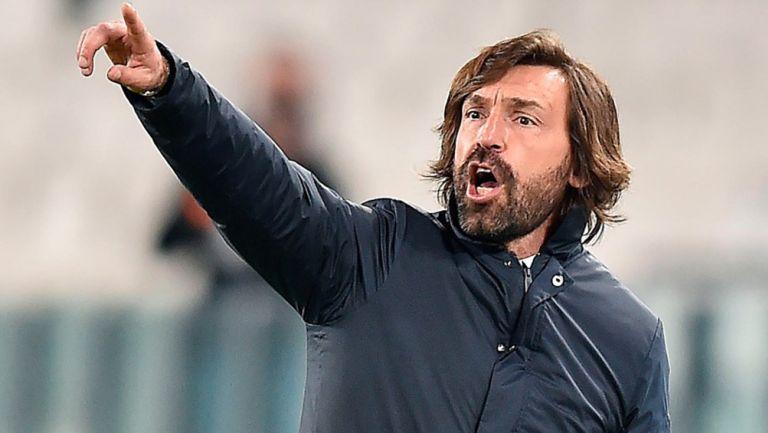 Andrea Pirlo en un partido de la Juventus