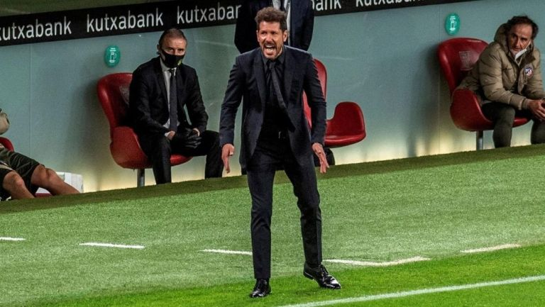 Diego Simeone el partido con el Atlético