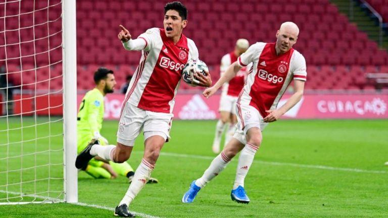 Edson Álvarez tras anotar gol a favor del Ajax