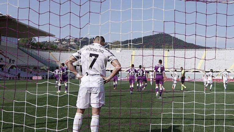 Cristiano Ronaldo en empate vs la Fiorentina