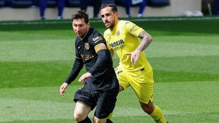 Lionel Messi en partido ante Villarreal