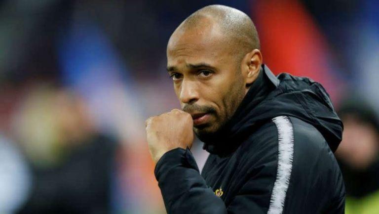 Thierry Henry en entrenamiento