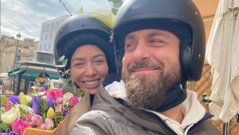 Daniele de Rossi junto con su esposa