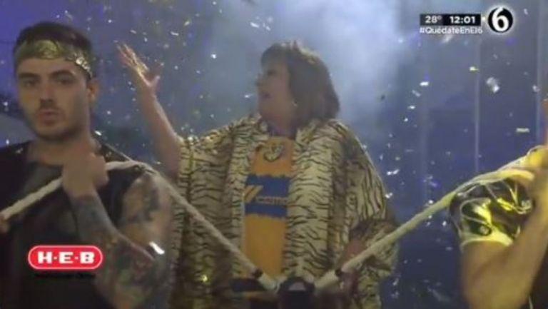 María Julia Lafuente ingresando al foro
