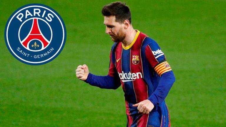 Messi, tras anotar un gol con el Barcelona
