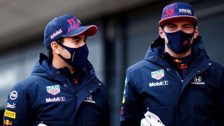 Checo Pérez y Verstappen