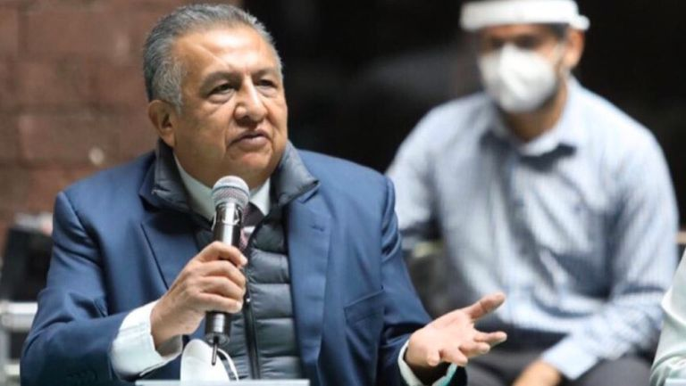 Saúl Huerta, durante un debate