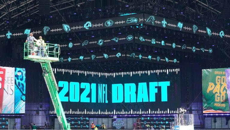 Preparativos para el escenario del NFL Draft 2021