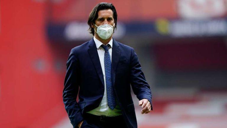 Santiago Solari en partido