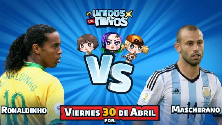 Ronaldinho y Mascherano jugarán Free Fire en un evento benéfico