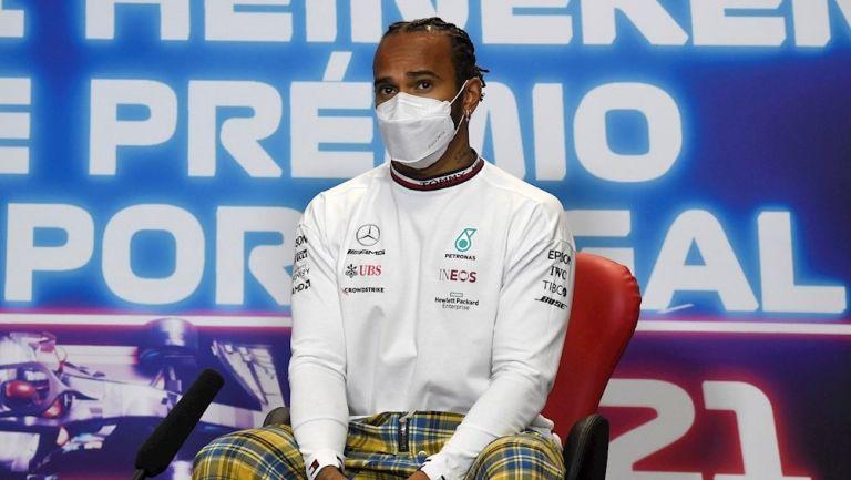 Lewis Hamilton en conferencia de prensa