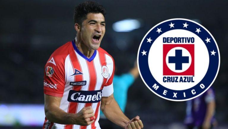 Nicolás Ibáñez en festejo con Atlético San Luis