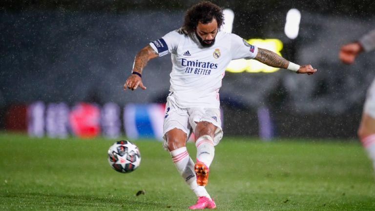 Marcelo en acción con el Real Madrid
