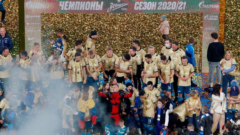 Zenit celebra el campeonato