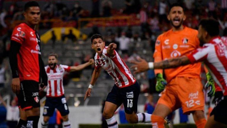 Chivas, en festejo de gol
