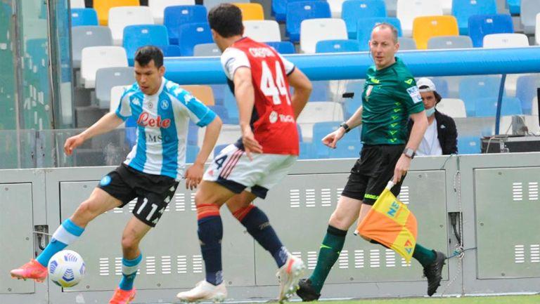 Chucky Lozano: Regresó a la titularidad en polémico empate del Napoli vs Cagliari