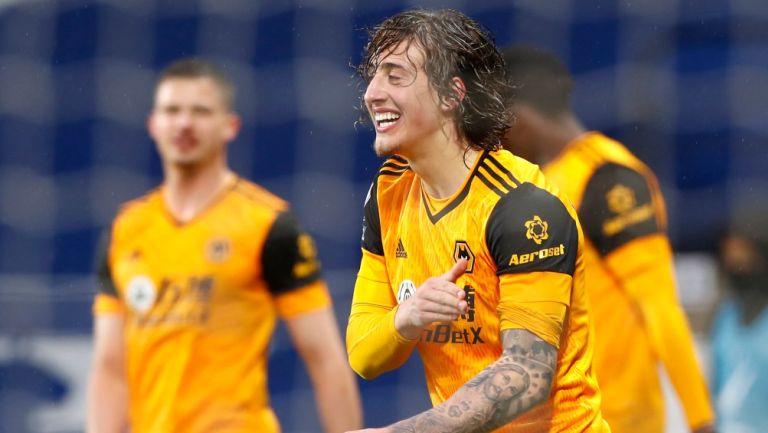 Wolves en festejo de gol