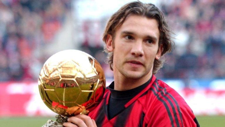 Shevchenko con el Balón de Oro