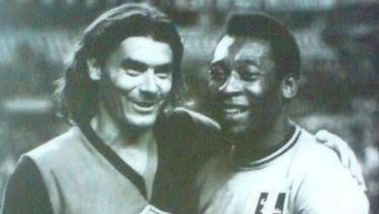 Rafael Albrecht y Pelé