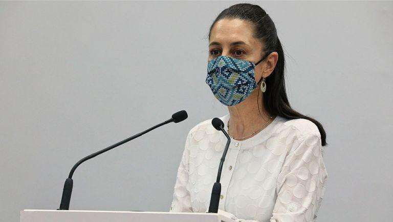 Claudia Sheinbaum en una conferencia de prensa