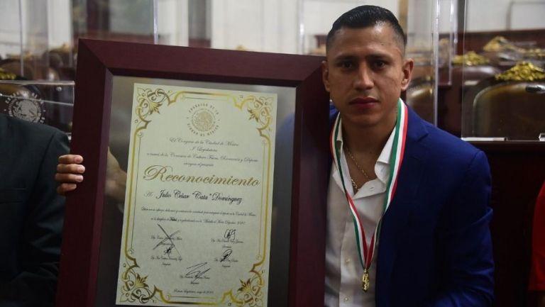 Cata Domínguez recibió Medalla al Mérito Deportivo