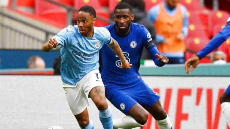 Acción en el Chelsea vs Manchester City