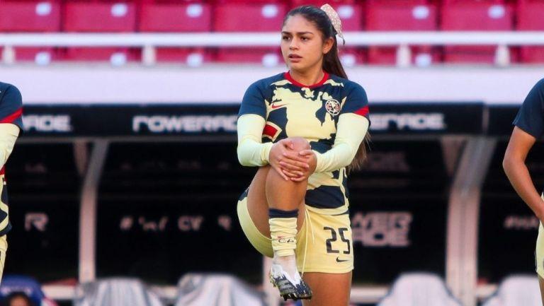 Jana Gutiérrez previo a un partido con América