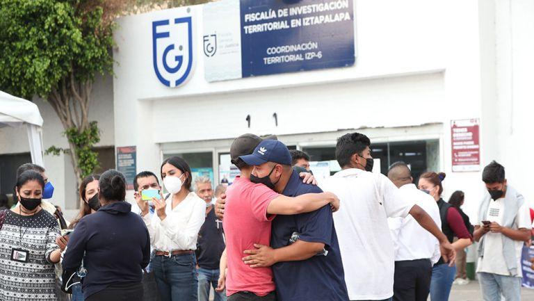 Familiares de las víctimas del accidente en la Línea 12