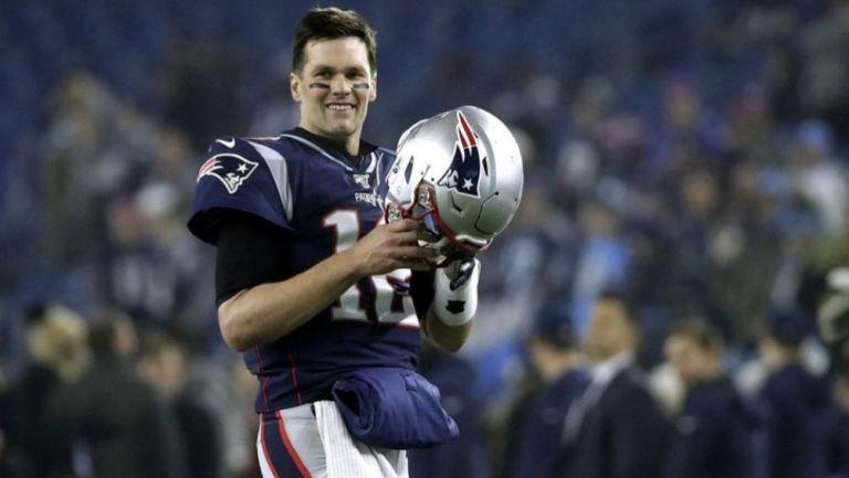 Tom Brady en un partido con los New England Patriots