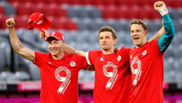 Lewandowski, Müller y Neuer tras golear al Mönchengladbach