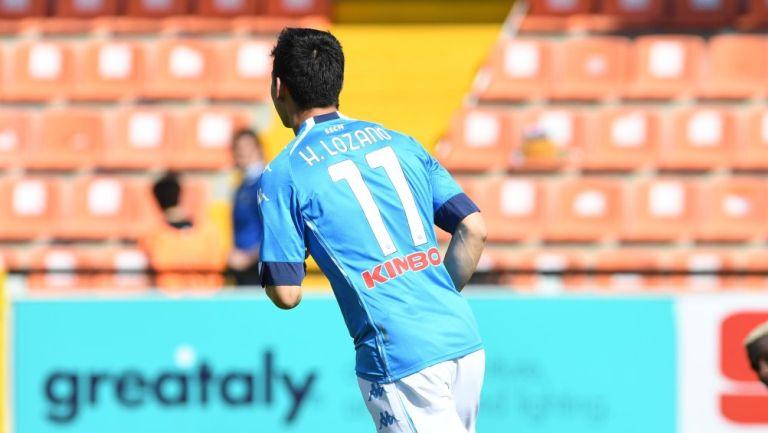 Chucky Lozano celebrando gol ante el Spezia