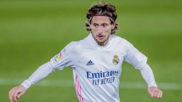 Luka Modric en un partido con el Madrid