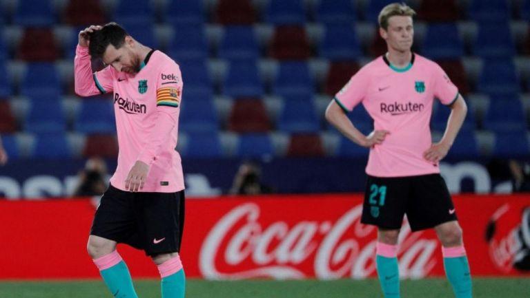Messi y De Jong en lamento con Barcelona