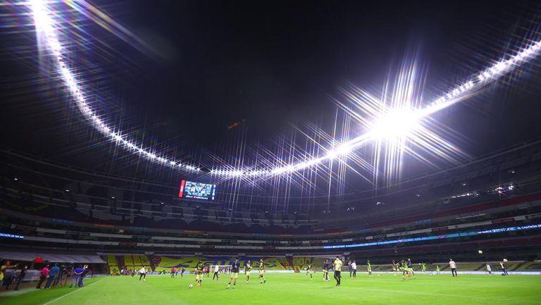 El Estadio Azteca previo al América vs Cruz Azul
