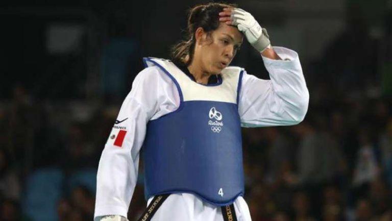 María del Rosario Espinoza tras competencia