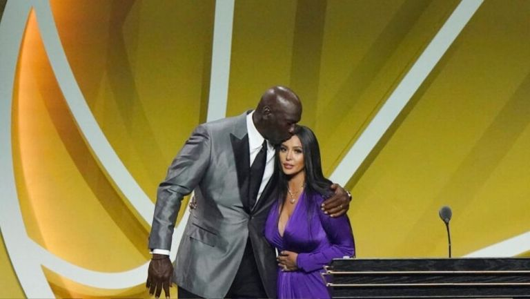 Michael Jordan con Vanessa Bryant