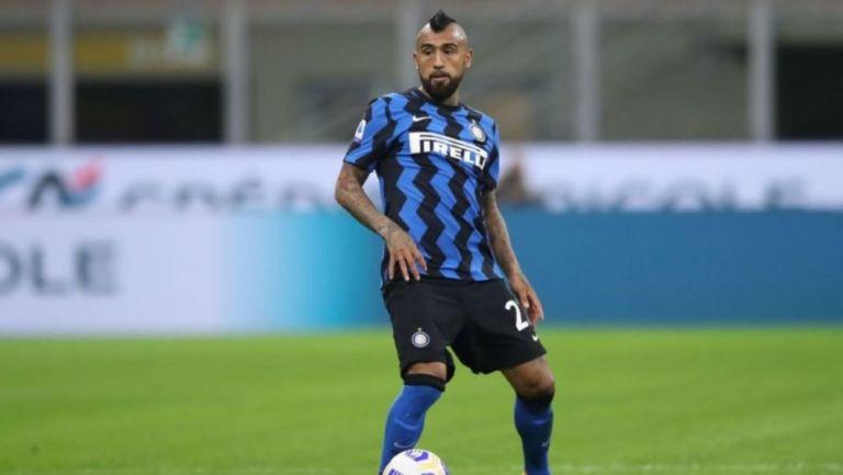 Arturo Vidal durante un partido con el Inter