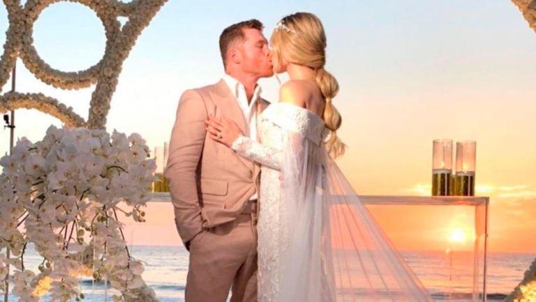Canelo Álvarez se casó con Fernanda Gómez en espectacular boda