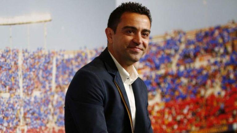 Xavi Hernández en presentación