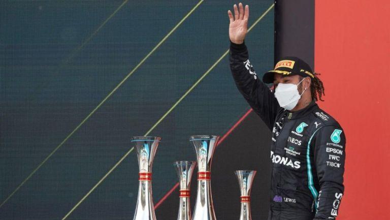 Lewis Hamilton tras ganar una carrera