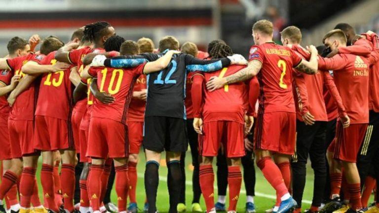 Los  'Diablos rojos' durante partido