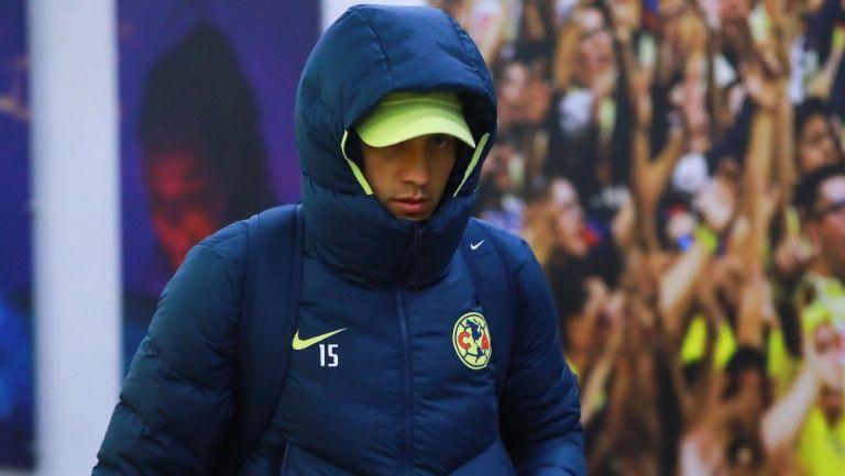 Nico Castillo, previo a un juego de América