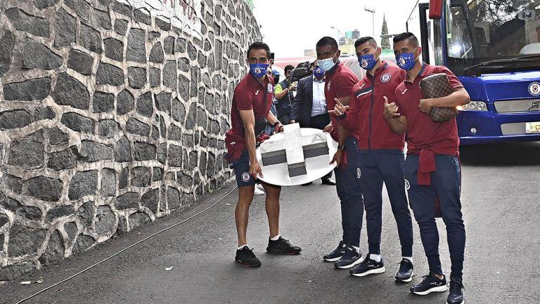 Jugadores de Cruz Azul previo al juego vs Toluca
