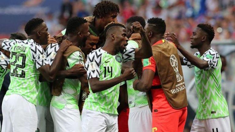 Jugadores de Nigeria durante el Mundial de Rusia 2018