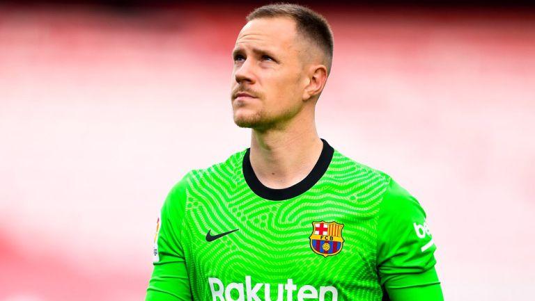 Marc-André ter Stegen previo a un duelo con Barcelona