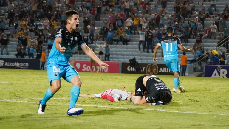 Daniel Lajud, en festejo del gol