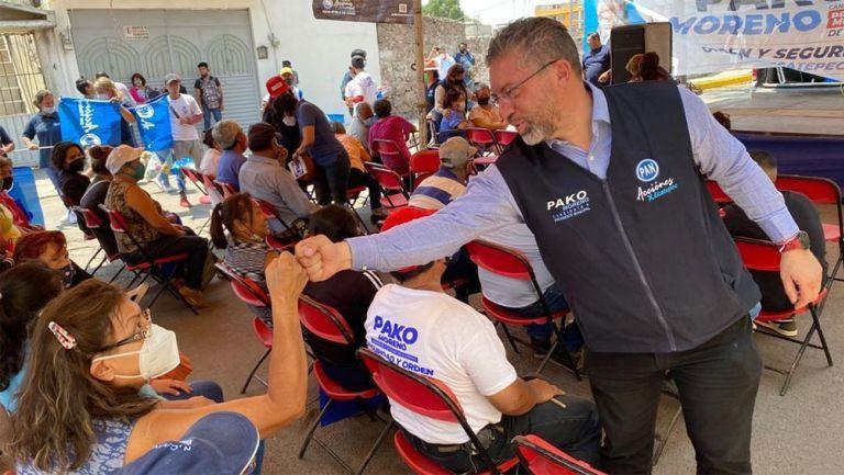 Pako Moreno durante un acto de su campaña